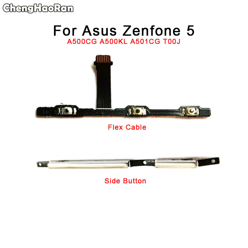 Chenghaoran Flex-Cable Asus Zenfone T00j/f-Volume-Power-Button A500KL Key for 5-a500cg/A500kl/A501cg
