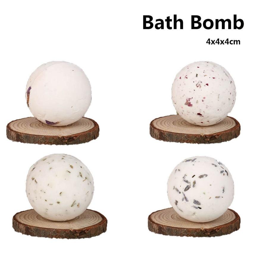 1pc Bath Bombs Ball Natural Sea Salt Lavender Bubble Essential Body Scrub JU27