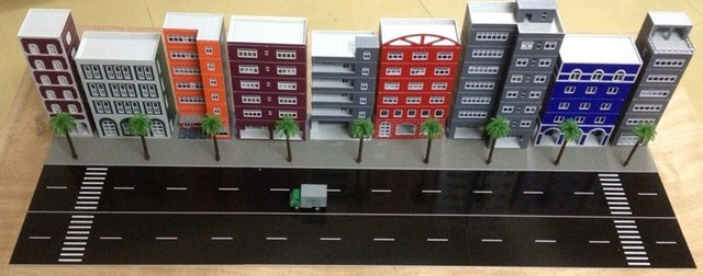 Aliexpresscom Buy 187 Model Train ho scale exquisite buildings