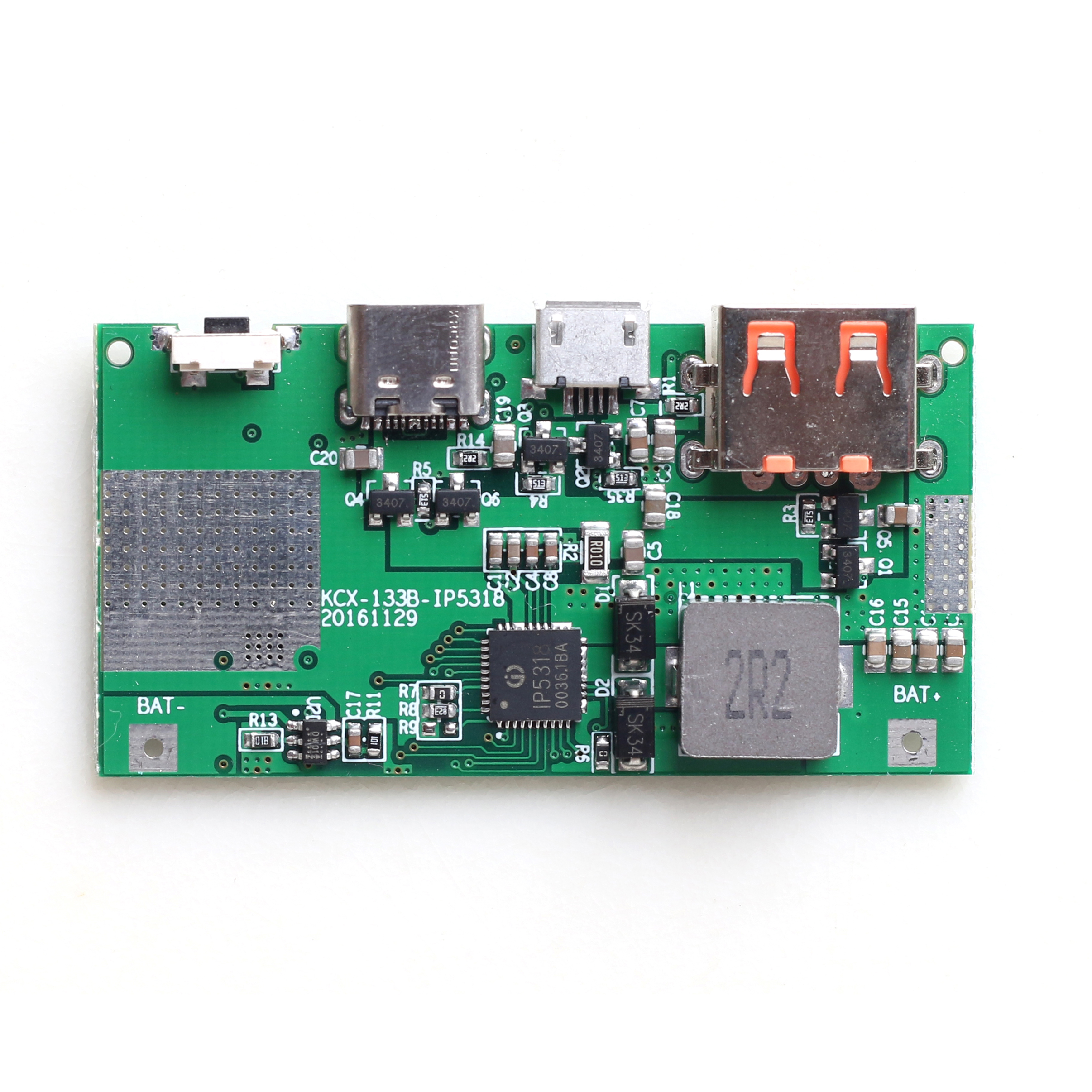 QC3.0 Fast Charge Boost Board 5V 9V 12V Bidirectional Fast Charge Boost Board Type-C
