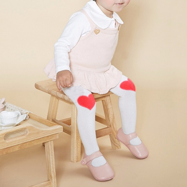 1bc1fb951 Cute Baby Girls Stockings Pant Hosiery Pantyhose Kids Girl Cotton Heart  Printed Tights