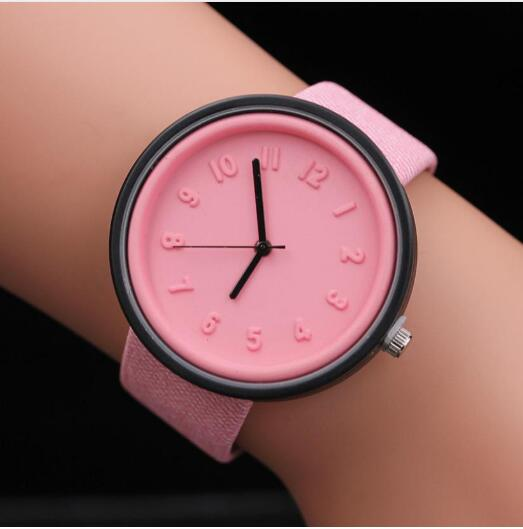 Quartz Wristwatches Reloj Unisex Simple Fashion Hours Watch Luxury 2019 Female Canvas Belt Woman Watches Montre Femme