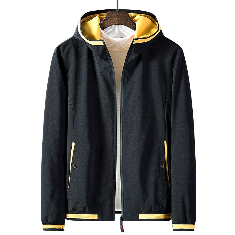 Anbican الأزياء رجل جاكت للربيع 2019 العلامة التجارية جديد مقنعين سترة واقية معطف الرجال عارضة سترة زائد حجم M 5XL-في جواكت من ملابس الرجال على  مجموعة 1