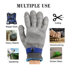 Anti-cutting Working Gloves Breathable Safety Proof Stab corrosion Resistant Stainless Steel Metal Mesh Labour Gloves