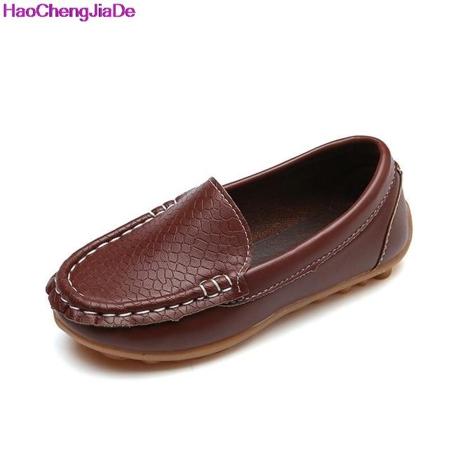 12da8dd13fe00 Garçons Enfants Sneakers Plat Nouvelles Filles Chaussures Semelles Souples  Slip Sur Mocassins En Cuir Chaussures Bébé