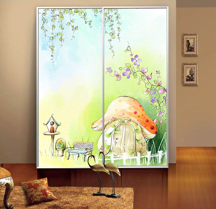 Window Wardrobe: Decorative Stained Glass Stickers Opaque Self Adhesive Or
