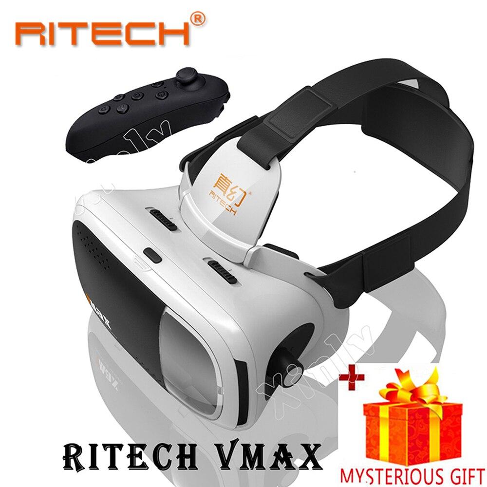 Casque RITECH 3 D VR Box 3D Virtual Reality Glasses Goggles Headset Helmet For Smart Phone Smartphone Len Lense Google Cardboard
