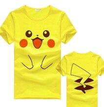 XHTWCY Pikachu T Shirt Anime Pikachu Cotton man and woman Short Sleeve Tops Tees