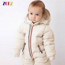 82065fb30 Zofz Bebé Ropa algodón chaqueta Mono para niños moda manga completa  mamelucos del bebé con capucha gruesa 2018 Bebés Ropa