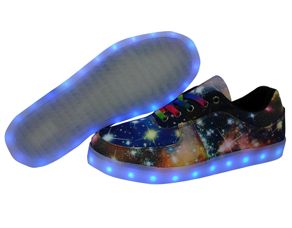 2017 New Magic Lamp Light Shoes Children's Casual Sneakers USB charging canvas print Shoes Boys flats outdoor sport board shoes glowing sneakers usb charging shoes lights up colorful led kids luminous sneakers glowing sneakers black led shoes for boys