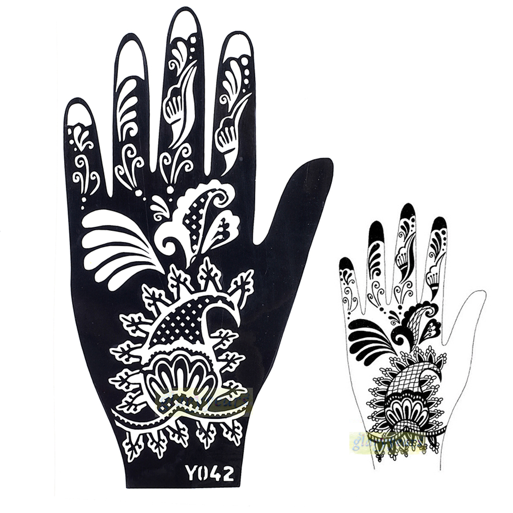 PARTH IMPEX Henna Tattoo Stencils Pack Of 16 Self Adhesive Full Body Paint Designs Template For