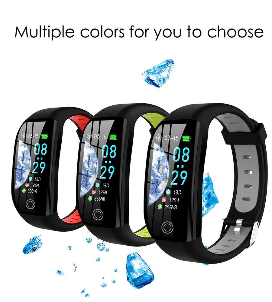 HTB1Yal2eQ5E3KVjSZFCq6zuzXXaK F21 Smart Bracelet GPS Distance Fitness Activity Tracker IP68 Waterproof Blood Pressure Watch Sleep Monitor Smart Band Wristband