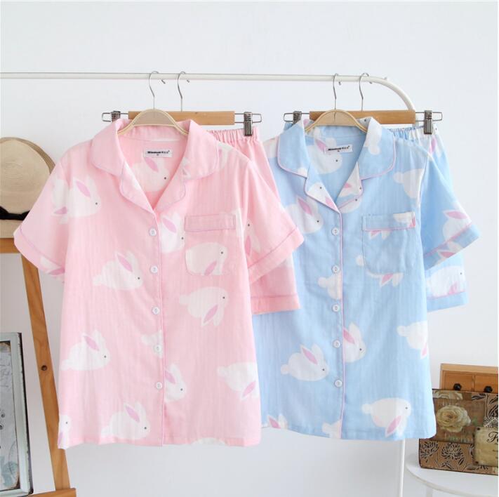 2019 Women Summer   Pajamas     Set   Soft Comfortable Printing Home Suit Women Cotton Sleepwear   Pajamas   Women