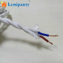 LumiParty Colorful Vintage Retro Twist Braided Fabric Light Cloth Cable Electric Wire Chandelier Pendant Lamp Wires 2 Cord(China)