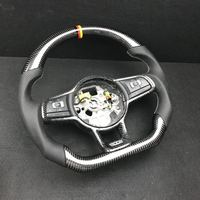 100% Real Carbon Fiber Steering Wheel For FIT VW Golf 7 GTI Golf R MK7 Replacement(The German Flag line)