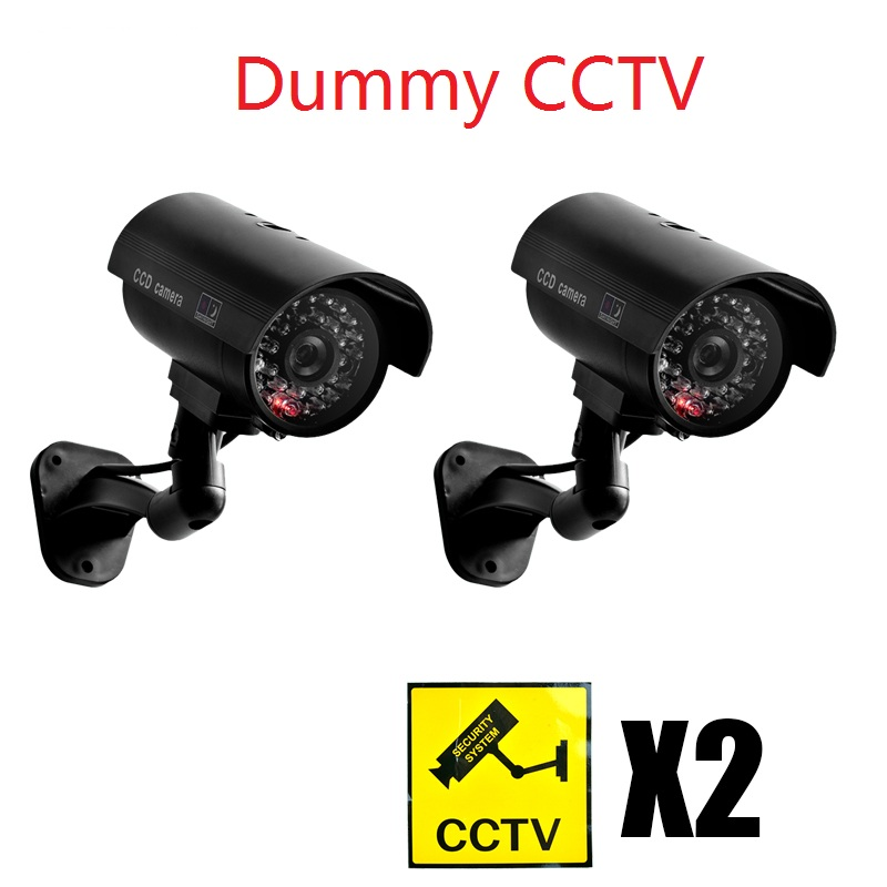 где купить Waterproof Dummy CCTV Camera With Flashing LED For Outdoor or Indoor Realistic Looking Fack Camera for Security дешево