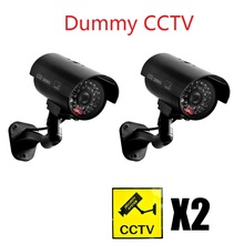 Security Protection - Security Alarm - Etiger Waterproof Dummy CCTV Camera With Flashing LED For Outdoor Or Indoor Realistic Looking Fack Camera For Security