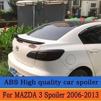 For MAZDA 3 Spoiler 2006 2013 for MAZDA 3 High Quality ABS Material Car Rear Wing Primer Color Rear Spoiler