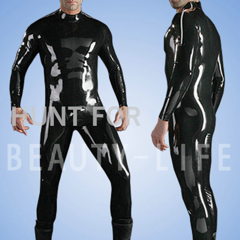 Latex Fetish Catsuit Zentai Exotic Apparel Teddies Show your Sexy Tight Leggings Full cover For men Plus Size Customizable