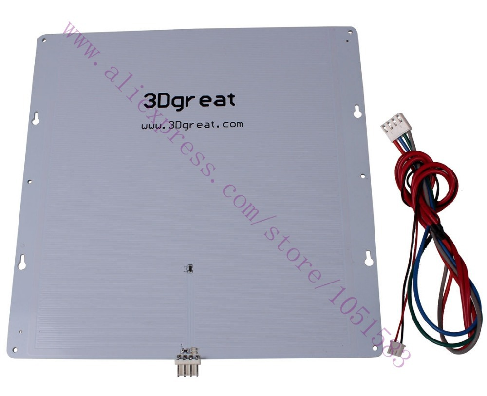 Print Table Heated Bed Aluminium Plate with Temperature Sensor for Ultimaker 3D Printers built plate 2mm thickness цена