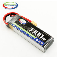 Lipo Battery 3S 11.1V 3300mAh 60C For RC Drone Quadcopter Helicopter Airplane Boat Car Truck Remote Control Toys Lithium Battery