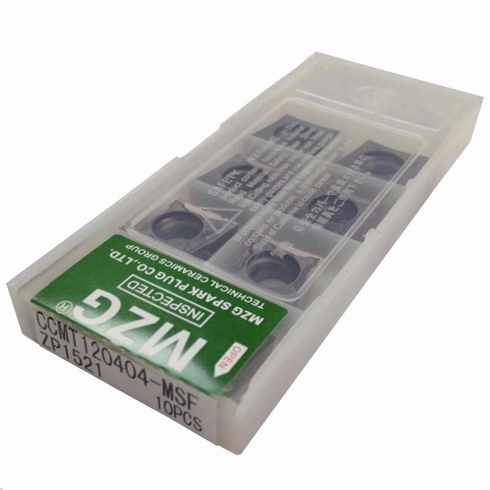 Бесплатная доставка MZG CCMT060204 CCMT09T308 CCMT09T304 MSF скучно токарная обработка cnc Stainless Steel режущие инструменты Вольфрам твердосплавные пластины