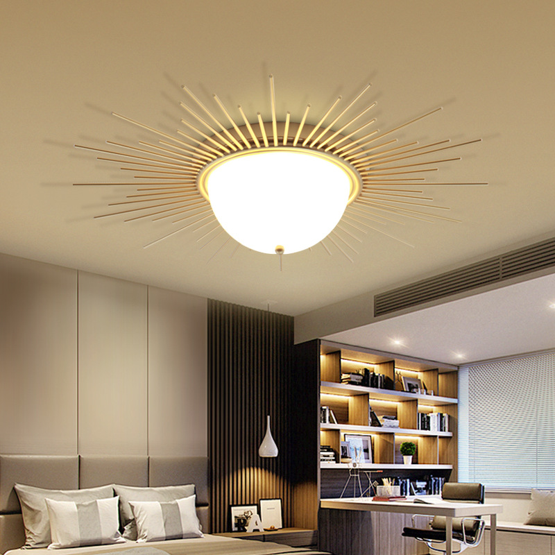 US $148.5 34% OFF Ancient Roman Retro LED ceiling lamp living room fixtures  iron acrylic Ceiling lighting corridor bedroom ceiling lights-in Ceiling ...