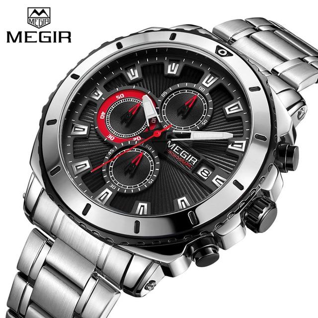 321c14477b3 MEGIR Sports Chronograph Quartz Men Watch Top Brand Luxury Military Watches  Clock Men Relogio Masculino Business Wristwatches-in Quartz Watches from  Watches ...