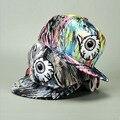 Хип-хоп бейсболки шляпы Snapback для мужчин женщин глазами демон печать шапки встроенная повернет вспять Gorras Planas хомбре Casquette оптовая продажа