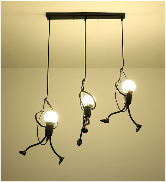 Lamp Modern Light Fixture Nordic Pendant Retro Metal Farmhouse Lighting Kitchen Island Lamps