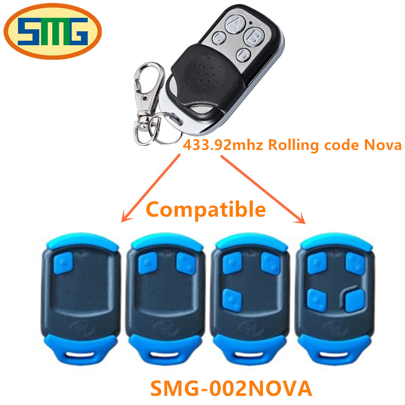 NOVA remote control replacement 433.92MHZ rolling code free shipping
