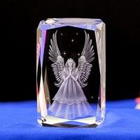 Angel LASER ENGRAVED CRYSTAL night Light Angel Shape crystal Led Light with Color Changing Light Baby Safe sleep light gifts