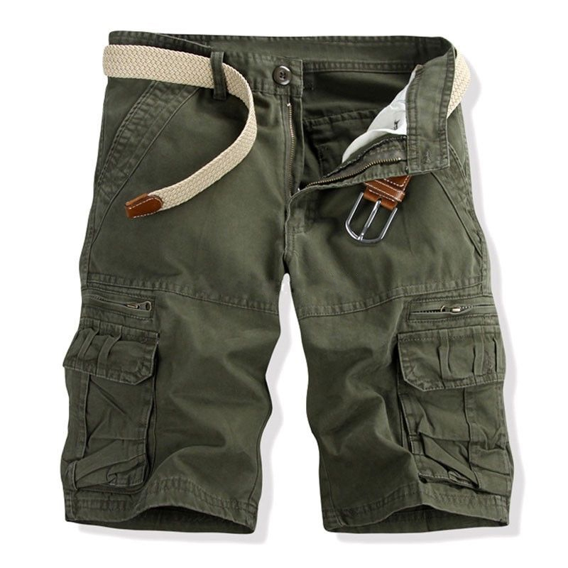 Cargo Pants Mens Military Cargo Shorts Multi-pocket 2018 Brand New Solid Color Shorts Men Cotton Loose Work Casual Short Pants