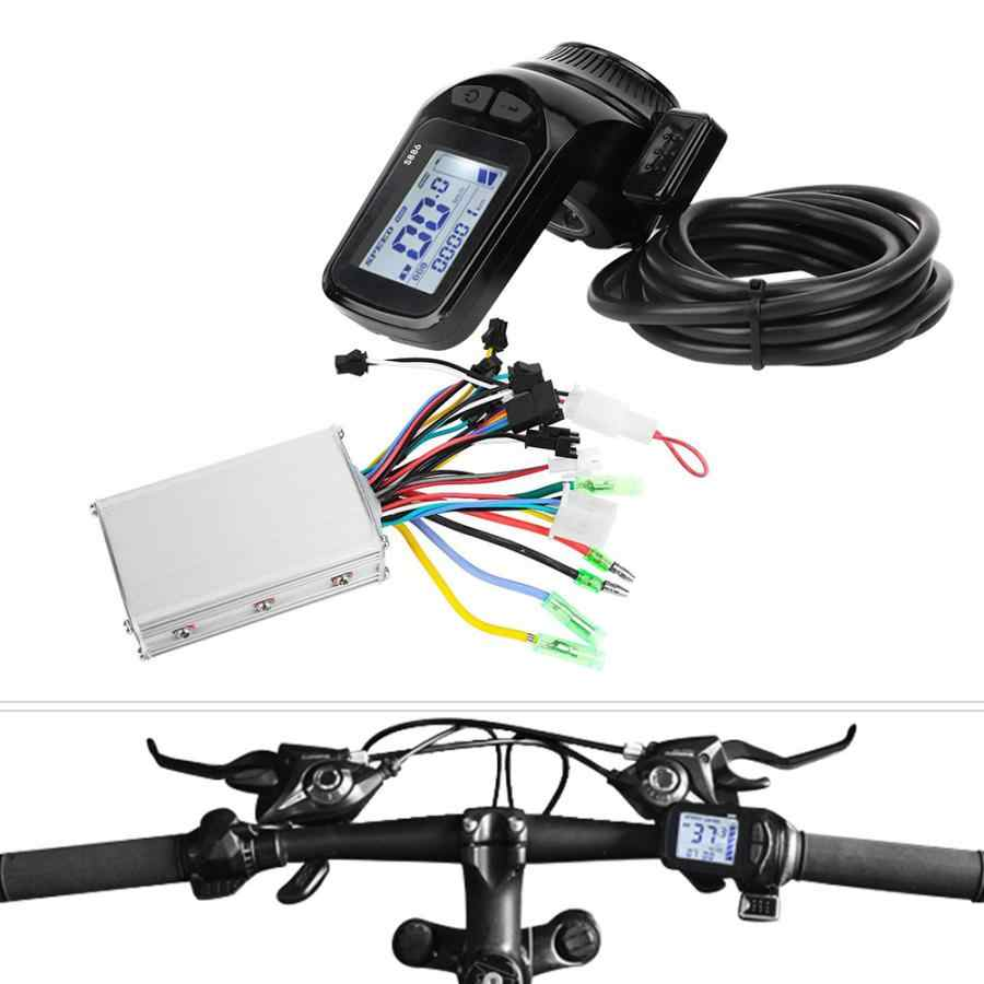 24V/36V/48V 350W Electric Bicycle Scooter Brushless Controller Kit LCD Display Panel E-bike Motor Controller