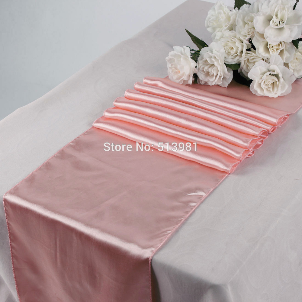 High quality 2PCS 30*275cm 21 colors Satin Table Runners 12\