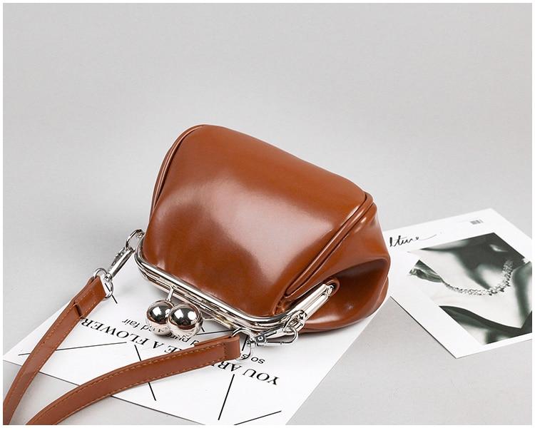 bags women leather shoulder crossbody bag women's handbag kiss lock bag (20)