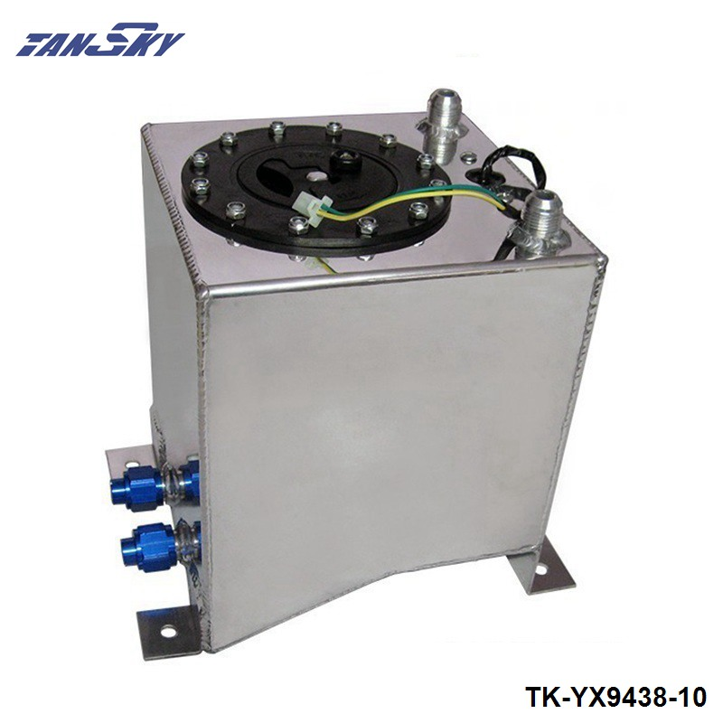 10L Aluminium Surge tank mirror polish Fuel cell foam inside, with sensor TK-YX9438-10 цена