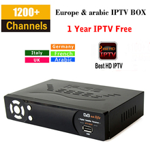 Nouveau IP-S2 Plus iptv box Full HD 1080 P DVB-S2 Récepteur Satellite Smart tv box Media Player + 1 Année Eupore IPTV Italie Arabe ip TV