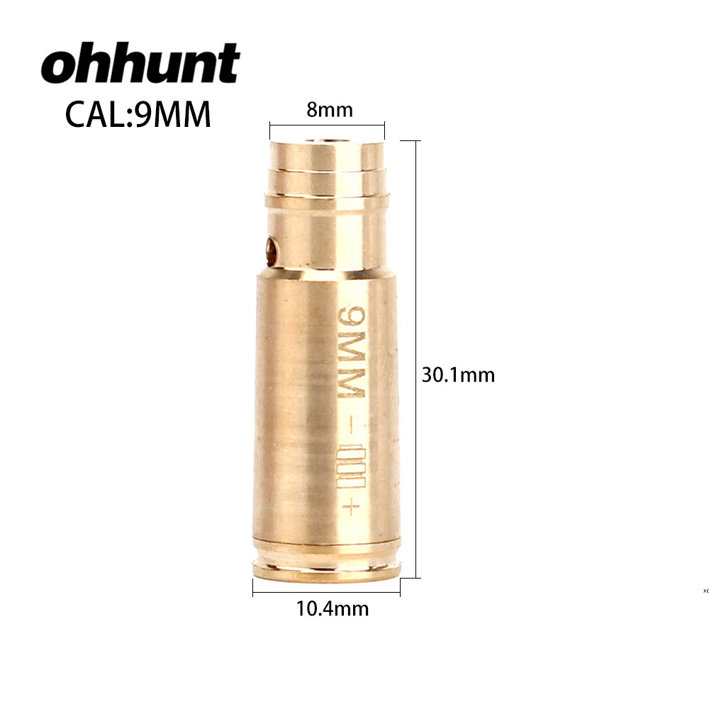 ohhunt CAL .9mm .45 .30 .222REM .223REM 7.62X39 30-30WIN 7X57R .308 7.62X54 .38 Cartridge Red Laser Bore Sighter Boresighter