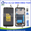 Black For LG Optimus G2 D800 D802 D805 F320 Original LCD Display Touch Screen Digitizer Assembly Replacements +Bezel Frame+Tools