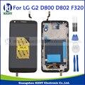 Preto para lg optimus g2 d800 d802 d805 f320 originais substituições de lcd screen display toque digitador assembléia + moldura do quadro + ferramentas