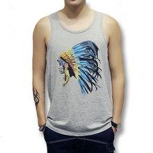2017 Tank Tops Divertido Chaleco Camisetas Tops Hombres Camiseta Hombre hombres Moda Casual Delgado Se Adapta O Cuello Sin Mangas Del Verano Camisetas de Hombre