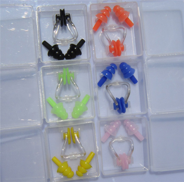 300 pcs swim waterproof silicone earplug nose clip set - Swimming pool accessories for adults ...