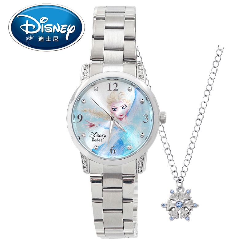 Disney Kids Watch Women Watch Princess Cinderella Minnie Elsa Cute Quartz Wristwatches Girls clock Water Resisitant купить