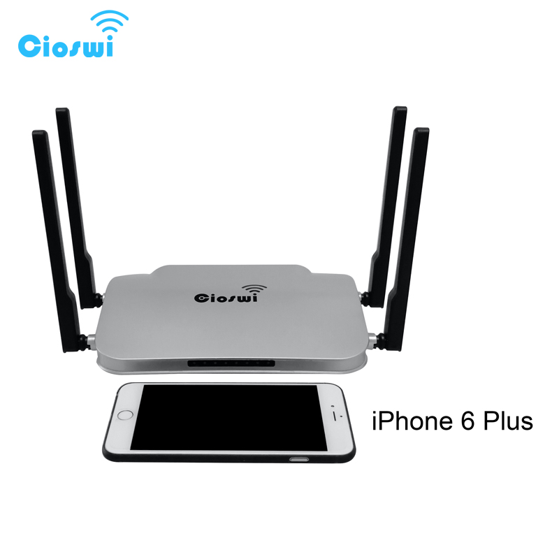 Wifi Routers 1200Mbps Dual Band 2.4ghz/5ghz, WiFi Repeater USB 2.0 English Version openWRT Router WiFi 10/100/1000M Ports