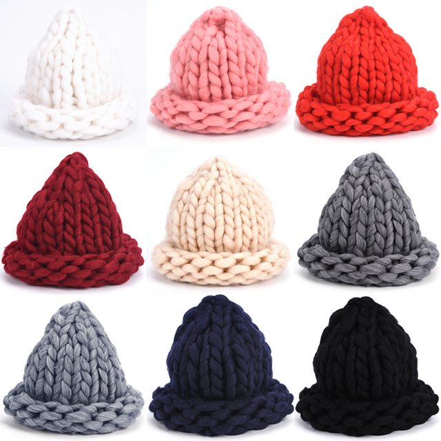 58db32d37 Women's Knitted Winter Hat Coarse Lines Outdoor Warm Hat Beanie Hat  Multicolor Women Girl 's Hats-in Skullies & Beanies from Women's Clothing &  ...