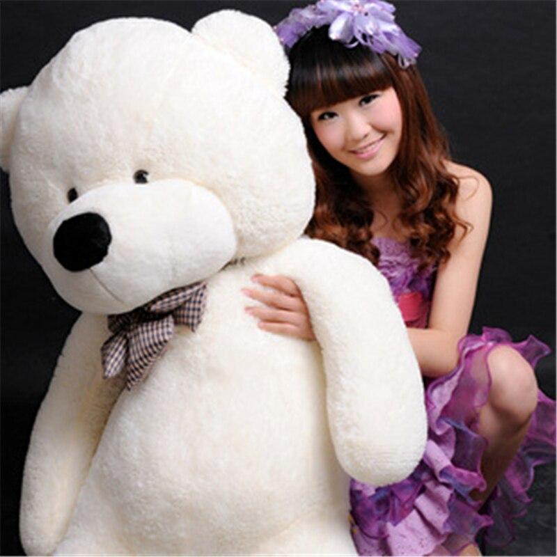 Kawaii 80cm adorável pelúcia animais de pelúcia macio urso de pelúcia gigante urso urso urso pelucia meninas brinquedos de casamento e festa de aniversário decoração