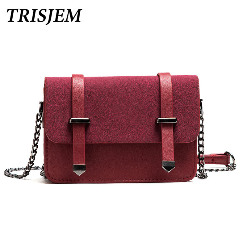 TRISJEM bags for women 2018 woman messenger bags small crossbody bags for women fashion cute mini chian shoulder bag black/pink pink pvc crossbody bags with small pu bags