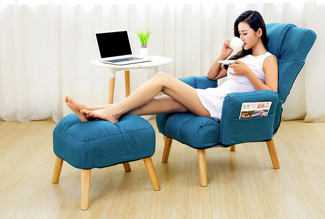 Lounge sofa. Single cloth art casual tatami. Computer chair can adjust the office nap..0.3