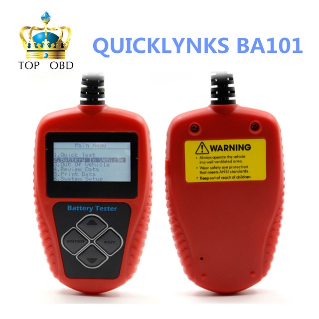 2017 New arrival QUICKLYNKS BA101 Automotive 12V Vehicle Battery Tester scanner Free Shipping